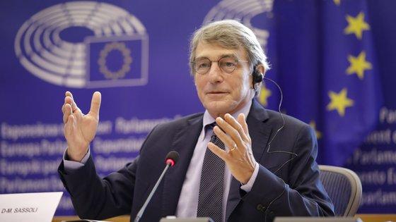 David Sassoli foi internado em Estrasburgo, França, durante a sessão plenária do Parlamento Europeu