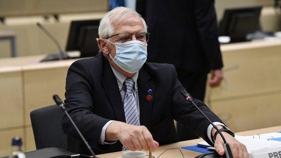 Josep Borrell, chefe da diplomacia europeia, falava no final de uma reunião de ministros da Defesa da União Europeia, em Bruxelas
