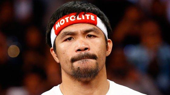 """Pacquiao afirmou: """"Sou um lutador. Serei sempre um lutador, dentro e fora do ringue"""""""