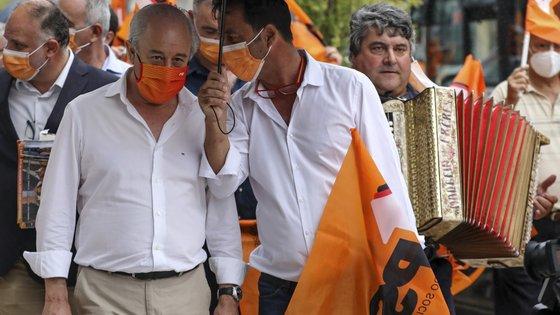 """Em Leiria, o presidente do PSD considerou que o partido pode ter uma """"oportunidade acrescida"""" de vitória"""