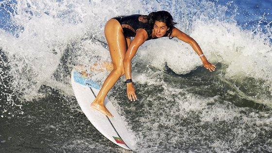 A surfista portuguesa ficou no segundo lugar da respetiva bateria