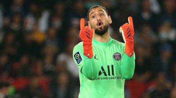 Donnarumma fez apenas dois dos nove jogos oficiais do PSG na presente temporada entre Ligue 1, Champions e Supertaça