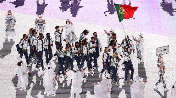 A entrada da comitiva portuguesa no Jogos de Tóquio 2020