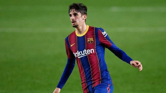Francisco Trincão, de 21 anos, fez 42 jogos na época de estreia pelo Barcelona, tendo marcado três golos (todos na Liga)