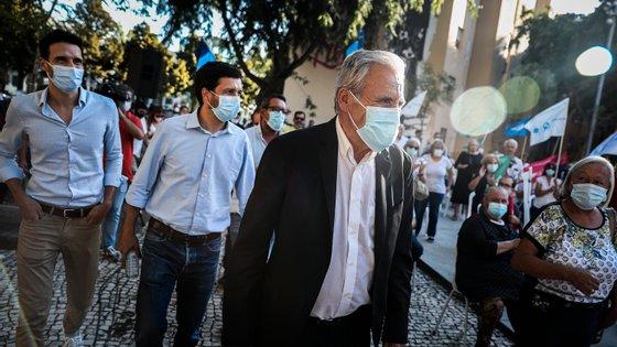 Jerónimo esteve esta quinta-feira no comício de João Ferreira, em Lisboa