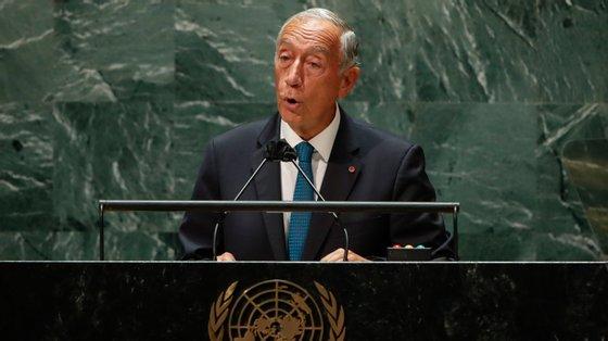 Marcelo discursou na 76.ª sessão da Assembleia Geral da ONU, em Nova Iorque