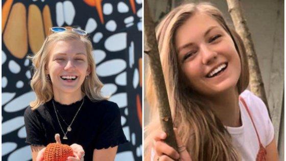 À esquerda, a última fotografia que Gabby partilhou no Instagram. À direita, a fotografia que as autoridades têm divulgado para que quem a encontre avise a polícia