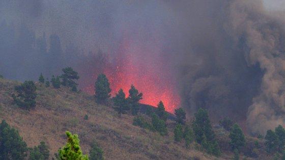 O vulcão de La Palma tem oito bocas ativas a emitir lava