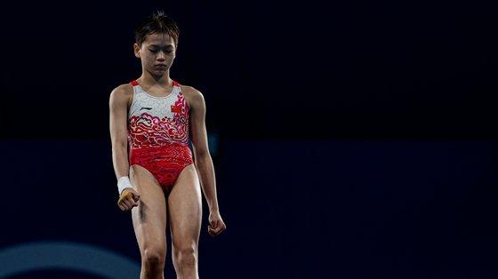 A atleta nascida em 2007 é a mais nova da delegação olímpica da China