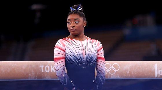 Simone Biles é uma das quatro ginastas norte-americanas que vai testemunhar mas a única ainda no ativo ao mais alto nível