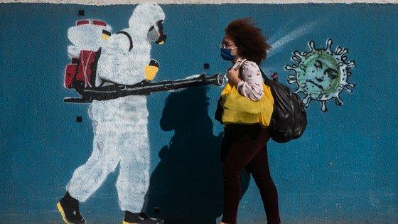 Graffiti Art Around the City of Rio de Janeiro Amidst the Coronavirus (COVID - 19) Pandemic