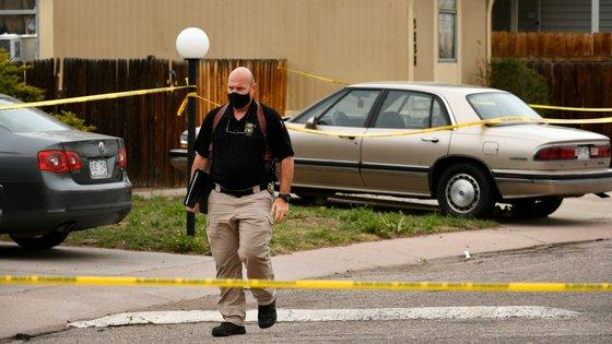 Imagem referente ao tiroteio em Colorado Springs há um mês