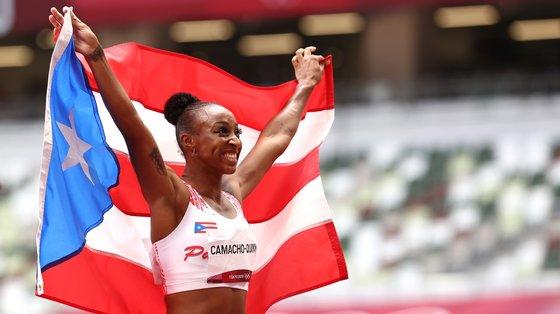 A atleta de 24 anos nasceu nos Estados Unidos e compete por Porto Rico devido à naturalidade da mãe