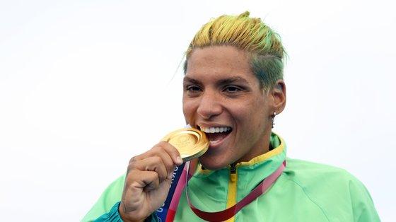 A nadadora brasileira é natural de Salvador, na Bahia