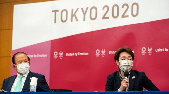Toshiro Muto e Siko Hashimoto presidente ao Comité de Organização dos Jogos Olímpicos de Tóquio