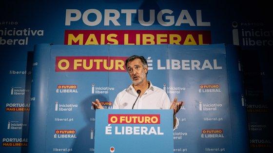 Líder do Iniciativa Liberal discursou na noite eleitoral na sede do partido no Porto.