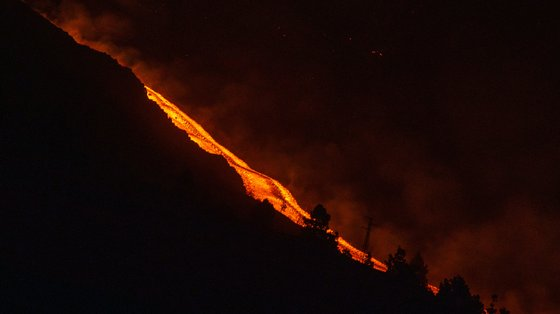 The New Lava Flow On La Palma Runs Above The Previous One And Is More Fluid And Faster