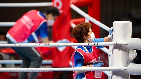 Todos os pormenores são levados a sério pela organização no boxe, que arrancou este sábado em Londres