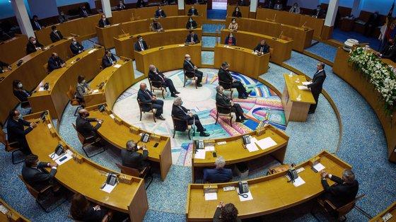 Questionado sobre as acusações do Bloco de Esquerda, Clélio Meneses disse que não esteve presente no evento