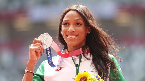 A triplista portuguesa conquistou a primeira medalha olímpica da carreira