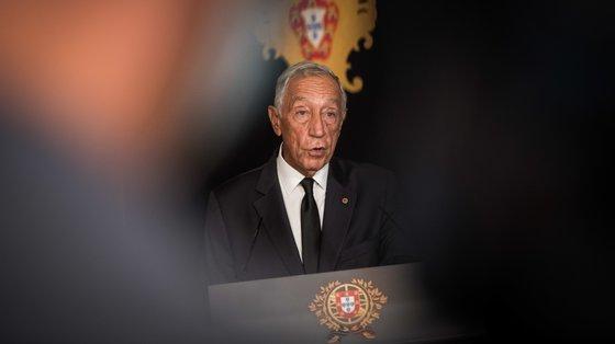 """Marcelo Rebelo de Sousa admitiu a """"preocupação ampla"""" e que, a confirmar-se, """"pode ser um travão ou uma desaceleração na recuperação económica"""""""
