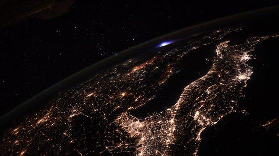 A fotografia exata tirada pelo astronauta Thomas Pesquet