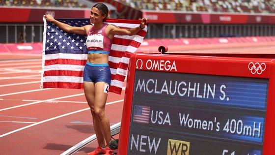 A atleta natural de New Jersey tinha ficado apenas no 16.º lugar nos Jogos Olímpicos do Rio