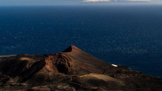 View of Teneguia Volcano in the south of La Palma island