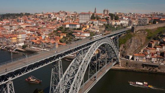 Porto Bridge Aerial Landscape