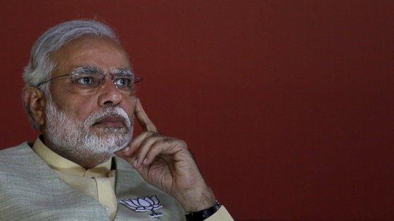 Narendra Modi foi eleito primeiro-ministro da Índia em 2014, com 31% dos votos.