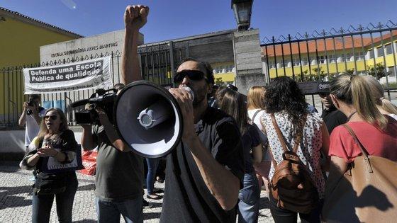 Protestos na Escola Secundária Alves Martins, em Viseu