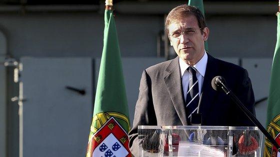 """Passos Coelho afirmou que """"as famílias hoje estão mais defendidas"""""""