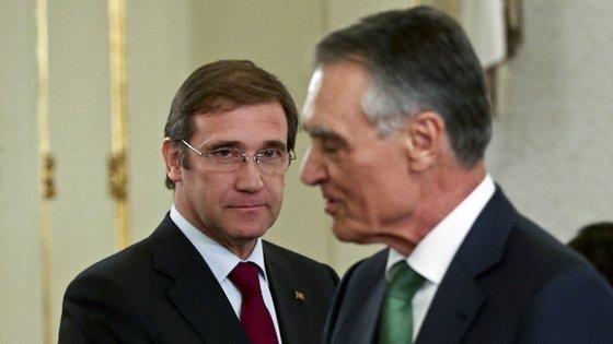 Passos e os restantes ministros desejaram votos de boas festas ao Presidente da República