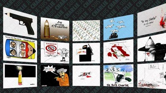 Vista do Museu Virtual do Cartoon