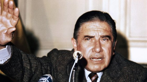 O ditador chileno Augusto Pinochet