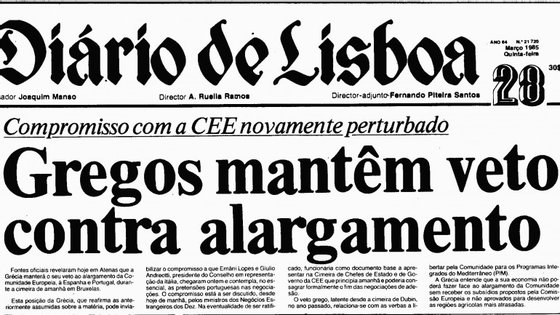 A manchete do Diário de Lisboa a 28 de Março de 1985 era clara: o acordo estava por um fio