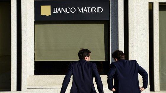 A instituição financeira espanhola está num processo de insolvência.