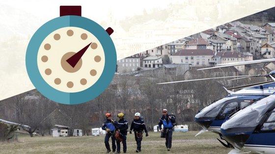 Entre o primeiro contacto dos controlos aéreos e a chegada ao local passou-se pouco mais de uma hora
