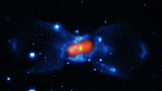 Imagem capturada pela NASA do CK Vulpeculae