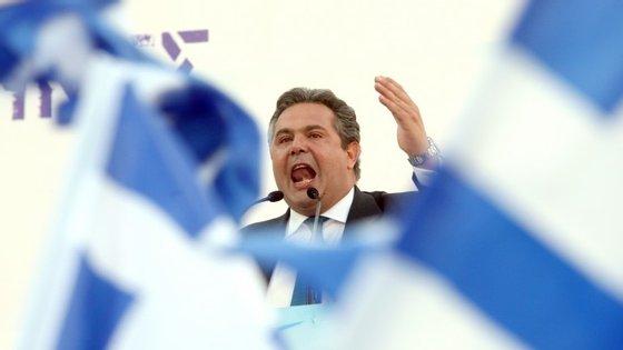 Panos Kammenos é o líder dos Gregos Independentes, parceiro de coligação do Syriza