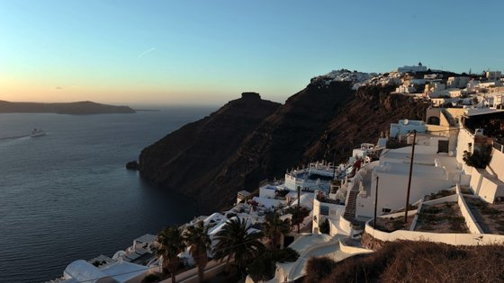 Santorini, na Grécia, é um dos pontos de paragem