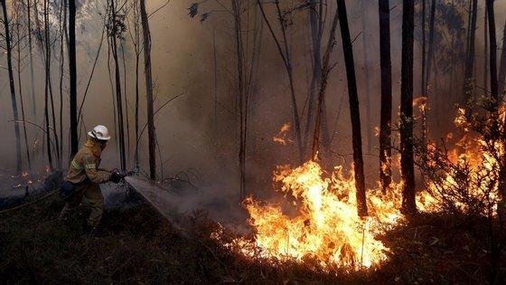 Foram registados 40 incêndios na segunda-feira