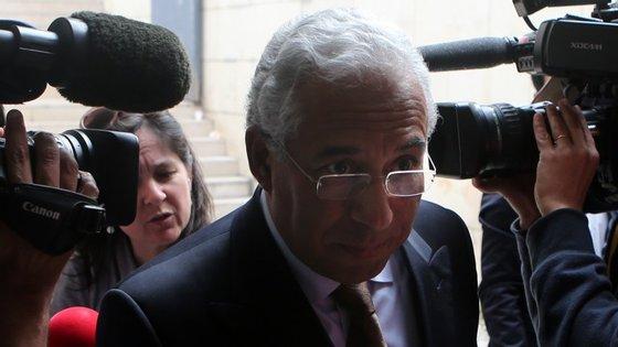 António Costa visitou esta quarta-feira Autoridade Nacional da Proteção Civil (ANPC), em Carnaxide