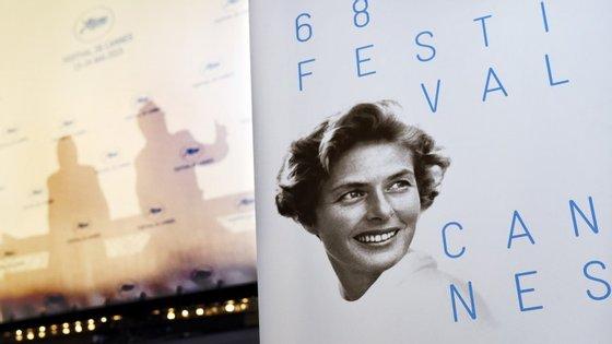 Ingrid Bergman é a cara do cartaz da 68ª edição do Festival de Cannes