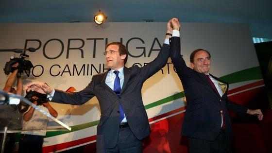 Pedro Passos Coelho e Paulo Portas assinaram em abril um compromisso para uma coligação entre o PSD e CDS-PP.