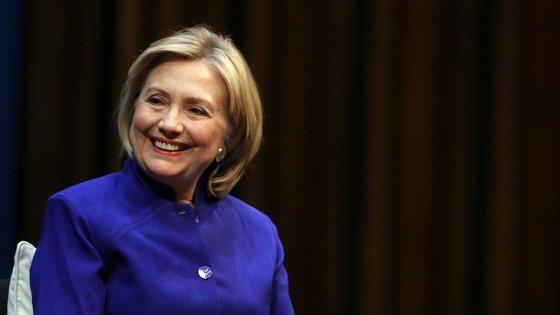 Hillary anunciou há poucas semanas a candidatura à presidência dos Estados Unidos