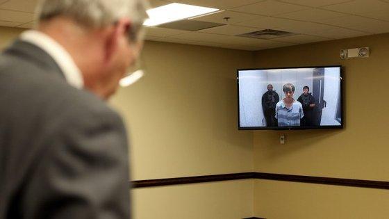 Dylann Roof apresentou-se pela primeira vez em tribunal no dia 19 de junho