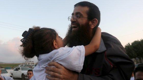 Khader Adnan foi recebido como um herói na sua cidade natal