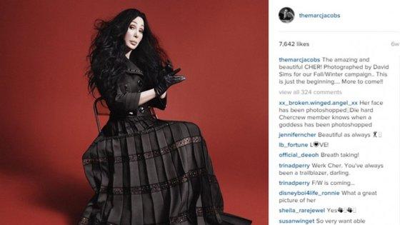 Cher foi a primeira celebridade a fazer parte da campanha