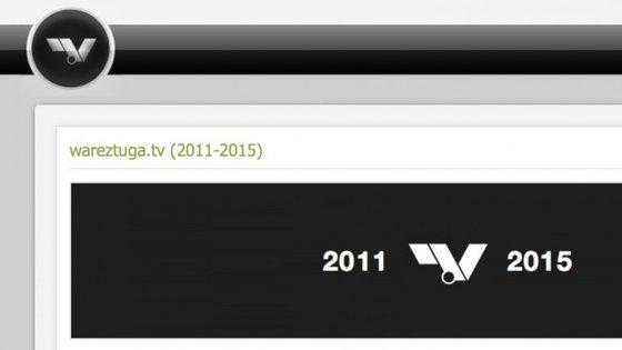 Captura de ecrã da página wareztuga.tv no dia de encerramento